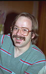 Author photo. Minneapolis Comic Con 1982, photo by Alan Light