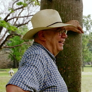 Author photo. George E. Stuart at the site of Palenque Photo by Melinda Y. Stuart