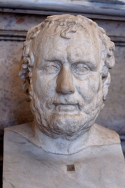 Author photo. Roman copy after a Greek original of the late 4th century BC,<br> Palazzo Nuovo, Musei Capitolini <br>(Credit: Marie Lan-Nguyen, 2006)