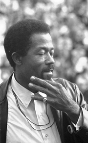 Author photo. Eldridge Cleaver (1935-1998) Photograph by Marion S. Trikosko, October 18, 1968. (Library of Congress Prints and Photographs Division)