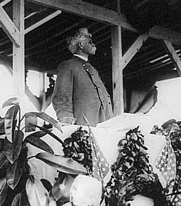 Author photo. Confederate Gen. Bennett H. Young at unveiling of Confederate Monument, Arlington, Va., June 4, 1914 (National Photo Company Collection, Library of Congress Prints and Photographs Collection, Reproduction Number: LC-USZ62-91975), cropped