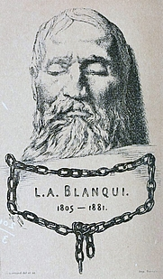 Author photo. Image from <b><i>L'enfermé avec le masque de Blanqui</i></b> (1919) by Gustave Geffroy