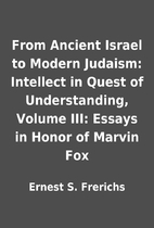 From Ancient Israel to Modern Judaism:…