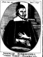 Author photo. Scanned from the first edition of Burroughs' Rare Jewel of Christian Contentment (London, 1647).