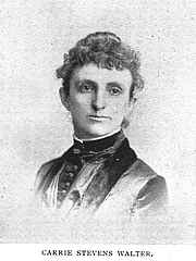 Author photo. Carrie Stevens Walter (b.1846), Buffalo Electrotype and Engraving Co., Buffalo, N.Y.