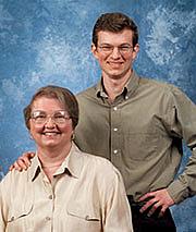 Author photo. Priscilla Hillman with her son and collaborator, Glenn