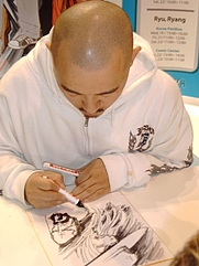 Author photo. Credit: Hans Weingartz, 2005, Frankfurter Buchmesse, Germany