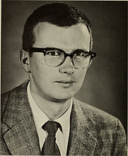 """Author photo. Malcolm C. McKenna [source: page 45 of """"A brief expedition into science at the American Museum of Natural History"""" (1969); permission: Internet Archive Book Images @ Flickr Commons]"""