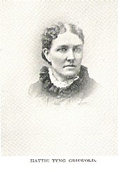 Author photo. Hattie Tyng Griswold (b.1842) Buffalo Electrotype and Engraving Co., Buffalo, N.Y.