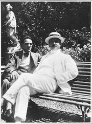 Author photo. Filippo Tommaso Emilio Marinetti (1876-1944), in white suit