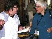 Author photo. Mary Taylor Simeti (on the right) & Maria Grammatico (co-authors of Bitter Almonds)