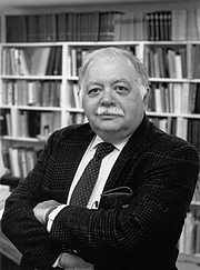"""Author photo. Oleg Grabar. (Photo is courtesy of the Institute for Advanced Study, Princeton.) Photo copied from the web site of <a href=""""http://www.csbe.org/e-publications-resources/urban-crossroads/commemorating-oleg-grabar-1929-2011/"""" rel=""""nofollow"""" target=""""_top"""">Center for the Study of the Built Environment</a>."""