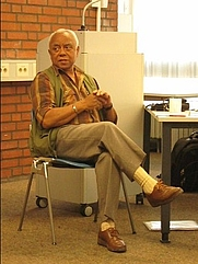 Author photo. Neville Alexander at the World Conference of African Linguistics in Cologne, 18 September 2009 [credit: Jummai; grabbed from Wikipedia]