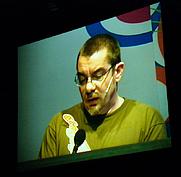 Author photo. Credit: Reinhard Jahn, 2005, Font Shop Converence, Berlin