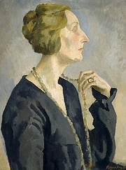 Author photo. Edith Sitwell, 1918, by Roger Fry