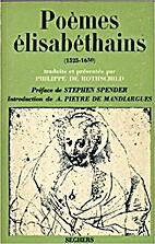 Poèmes élisabéthains by Christopher Ricks