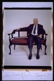 Author photo. Jean Francois Revel polaroid portriat 1999 taken by Elsa Dorfman