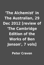 'The Alchemist' in The Australian, 29 Dec…