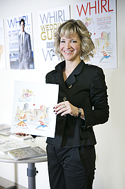 Author photo. Rebecca Whitlinger at the <a href=&quot;http://whirlmagazine.wordpress.com/2010/03/19/winner/&quot; rel=&quot;nofollow&quot; target=&quot;_top&quot;>WHIRL Magazine offices</a>. No credit information given.