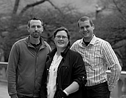 Author photo. N.J. TANGER is a team of writers = Nathan Beauchamp, Joshua Russell and Rachael Tanger. (Joshua is on the left.)