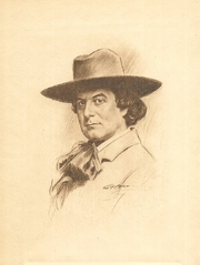 Author photo. Elbert Hubbard by Leon Gaspard in the 1908 Roycrofters book White Hyacinths.