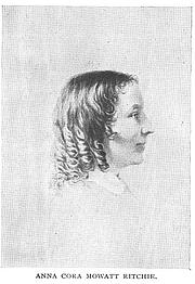 Author photo. Anna Cora Mowatt Ritchie (1819-1870), Buffalo Electrotype and Engraving Co., Buffalo, N.Y.