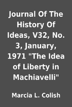 Journal Of The History Of Ideas, V32, No. 3,…