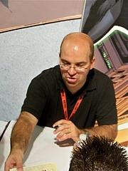 Author photo. DC Comics booth, San Diego Comic-Con International 2009, photo by Loren Javier