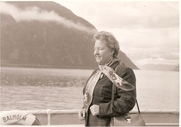 Author photo. Virginia Kahl on leave in Norway, September 1954
