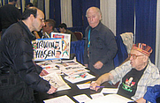 Author photo. Irwin Hasen and Arnold Drake (right, sitting) <br>at NY Comic-Con 2007 <br>  Copyright © 2007 <a href=&quot;http://ronhogan.tumblr.com&quot;>Ron Hogan</a>