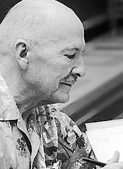 """Author photo. From <a href=""""http://en.wikipedia.org/wiki/Image:Heinlein-face.jpg"""">Wikipedia</a>"""