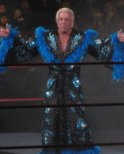 Author photo. Ric Flair in Seoul, South Korea. February 10, 2008.