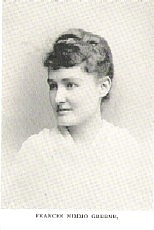 Author photo. Frances Nimmo Greene (b.1860's) Buffalo Electrotype and Engraving Co., Buffalo, N.Y.