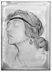 Author photo. Drawing by Jerome Myers ~ George Grantham Bain Collection (Library of Congress)