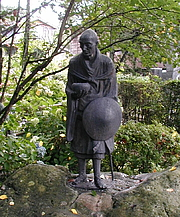 Author photo. wikimedia commons - Dready - A Picture of a Statue of Ryokan from Niigata Japan