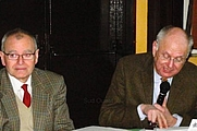 Author photo. Xavier Petitcol on the right with François Lalanne on the left