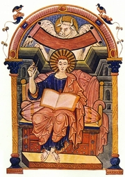 Author photo. St. Luke from the Ada Gospels by the Master of the Ada Group, Trier, c. 800.