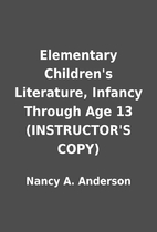 Elementary Children's Literature,…