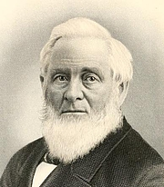 Author photo. Hiland Hall. Frontispiece from Memoir of Hon. Hiland Hall, LL.D. (1887)