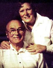 Author photo. Evelyn Haertig (1919-2007)with her husband Milton Haertig (1916-2002)