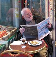 Author photo. Damian Barry Smyth at Ulysse en Gaule, rue Cler, Paris.