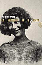 La personne et le sacré by Simone…