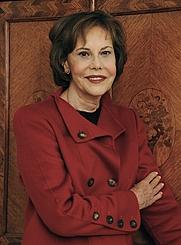 Author photo. Head shot of author and historian Barbara L. Goldsmith (1931 - ).