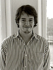 Author photo. On promotion tour in Sweden, 1986 (photo credit: wikipedia user Towpilot, dec. 1986)