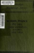 History of Modern France, 1815-1913, Volume…