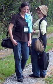 Author photo. Lois Trigg Chaplin (on left)