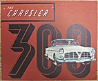 1955 Chrysler 300 Brochure 11 wide x 9.25…