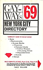 Gay-Ways '69: New York City Directory by…