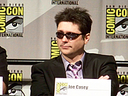 Author photo. Marvel: Dark Reign panel, San Diego Comic-Con International 2009, photo by Loren Javier