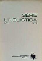 Série Lingüística no. 1 1973